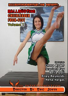 Ballbusting Cheerleader Fuck-Fest, starring Nena Vargas, Riley Reynolds, Chase Ryder, Bella Doll and Scarlett Fay, produced by Ultima Entertainment.