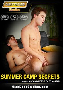 Summer Camp Secrets, starring Aiden Summers, Tyler Morgan, Ace Adams, Kyle Blake, Hayden Anders, Gunner Marx, Jacob Wolf, Trent Ferris, Lucas Owens, Dillon Anderson, Asher Hawk and Jay Cloud, produced by Next Door Studios.