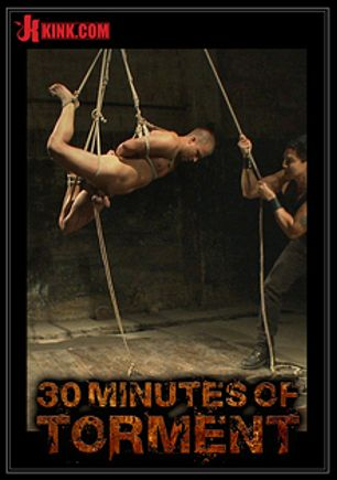 30 Minutes Of Torment: Straight Stud Takes Clover Clamps To The Balls, starring Eli Hunter and Van Darkholme, produced by KinkMen.