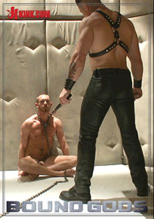 Bound Gods: Muscled Pervert Turns His Captive Stud Into A Sex Slave, starring Trenton Ducati and Jordan Foster, produced by KinkMen.