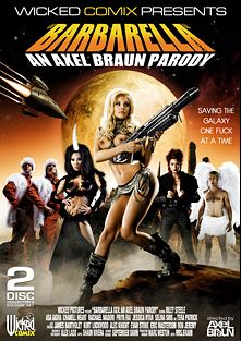 Barbarella XXX: An Axel Braun Parody, starring Riley Steele, Asa Akira, Rachael Madori, Chanell Heart, Alec Knight, Kurt Lockwood, Eric Masterson and Evan Stone, produced by Wicked Comix and Wicked Pictures.