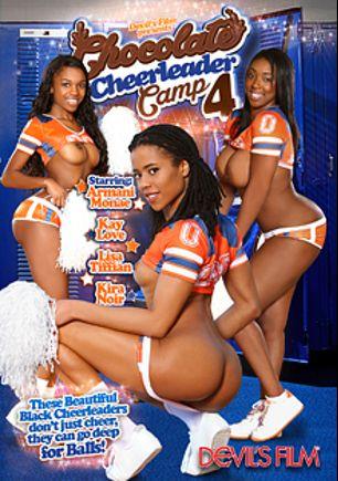 Chocolate Cheerleader Camp 4, starring Kira Noir, Lisa Tiffian, Armani Monae, Steven St. Croix, John Strong and Kay Love, produced by Devils Film and Devil's Film.