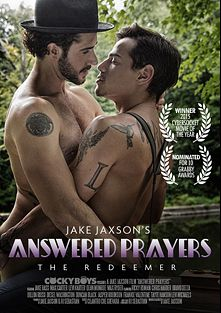 Answered Prayers: The Redeemer, starring Levi Karter, Jake Bass, Dean Monroe and Max Carter, produced by Cockyboys.