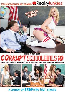 Corrupt School Girls 10, starring Miko Dai, Alina West, Dakota James (f), Marina Angel, Tommy Pistol, Tommy Gunn, Manuel Ferrara and Evan Stone, produced by Reality Junkies and Mile High Media.