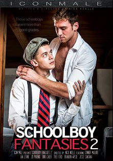 Schoolboy Fantasies 2, starring Ian Levine, Connor Maguire, Theo Ford, J.D. Phoenix, Dirk Caber and Jesse Santana, produced by Iconmale and Mile High Media.