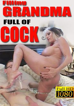 "Adult entertainment movie ""Filling Grandma Full Of Cock"" starring Sally D'Angelo & Chris. Produced by Sally D'Angelo."