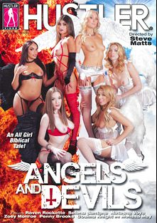 Angels And Devils, starring Selena Rose, Natasha Voya, Raven Rockette, Zoey Monroe, Penny Brooks, Cosmia Dunkin and Melissa May, produced by Hustler.