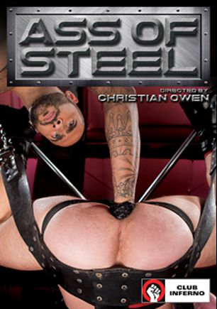 Ass Of Steel, starring Brandon Moore, Dakota Wolfe, Rikk York, Dylan Strokes and Rogue Status, produced by Club Inferno, Hot House Entertainment and Falcon Studios Group.