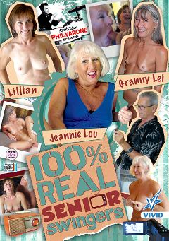 "Adult entertainment movie ""100 Percent Real Senior Swingers"" starring Jeannie Lou, Leilani Lei & Lillian Tesh. Produced by Vivid Entertainment."
