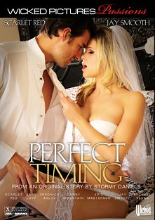 Perfect Timing, starring Scarlet Red, Jay Smooth, Sara Luvv, Veronica Avluv, Michael Vegas, Danny Mountain and Eric Masterson, produced by Wicked Pictures.