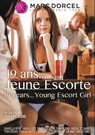 19 Years... Young Escort Girl, starring Daniella Rose, Gina Blond, Scarlett Hope, Cosmia Dunkin, Vanda Lust, Tom Cruiso, Pascal St. James, Jean Pallett and Pascal White, produced by Marc Dorcel and Marc Dorcel SBO.