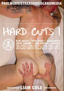 Hard Cuts, starring Adam Russo, Freddy Miller, Harry Lee, Ryan Kamren, Aaron Coxx, Nathan Gear, Bruce Jordan, Ken Ten, Sam Porter, Jake Ascot, Priam, Dan Carter, Lucky Joe, Jessy Karson, Blue Bailey, Peto Coast, Lincoln Gates, Cutler X and Craig, produced by Treasure Island Media.