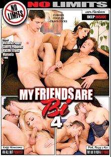 My Friends Are Bi 4, starring Victoria Puppy, Rachel Evans, Cherry Poppens, Jack Harrer, Nicholas Bee, Benito Moss, Danny Montero, Tomm, Manuela, Frankie Jay, Rico Pierre and Denis Reed, produced by Mile High Media and No Limits Productions.
