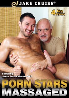 Porn Stars Massaged, starring Jessy Ares, Christian Kennedy, Angelo Antonio and Marcus Ruhl, produced by Jake Cruise Media.