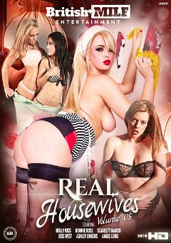 "Adult entertainment movie ""Real Housewives 5"" starring Holly Kiss, Ashley Embers & Bonnie Rose. Produced by British MILF Entertainment."
