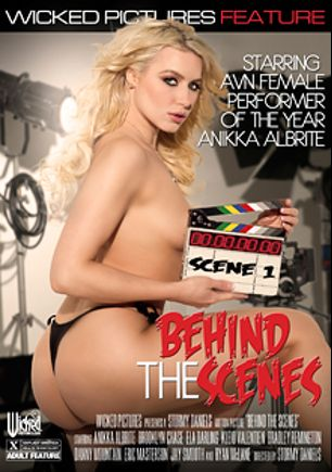 Behind The Scenes, starring Kleio Valentien, Jay Smooth, Bradley Remington, Brooklyn Chase, Anikka Albrite, Ryan McLane, Ela Darling, Danny Mountain and Eric Masterson, produced by Wicked Pictures.