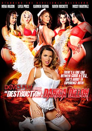 The Destruction Of Danica Dillon, starring Layla Price, Mena Li, Karmen Karma, Raven Rockette, Danica Dillan and Missy Martinez, produced by Devil's Film and Devils Film.