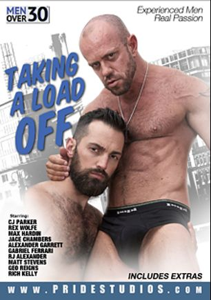 Taking A Load Off, starring C.J. Parker, Rex Wolfe, Gabriel Ferrari, Max Hardin, Geo Reigns, Matt Stevens, Rich Kelly, Jace Chambers, Alexander Garrett and RJ Alexander, produced by Men Over 30 and Pride Studios.