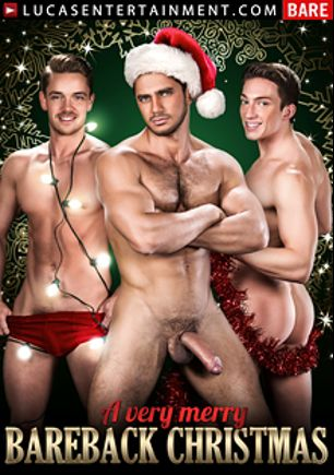 A Very Merry Bareback Christmas, starring Santiago Figueroa, Tanner Bradley, Nigel Banks, Ivan Gregory, Dato Foland, Donnie Dean and Lucas Knight, produced by Lucas Entertainment.