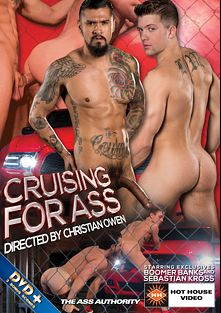 Cruising For Ass, starring Boomer Banks, Marko Carbo, Sebastian Kross, Colton Grey, Dylan Knight, Alexander Gustavo, Jimmy Durano and Casey More, produced by Hot House Entertainment and Falcon Studios Group.