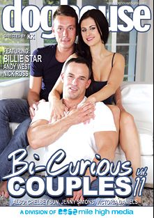Bi Curious Couples 11, starring Billie Star, David Sobota, Nick Ross, Chelsea Sun, Alex Hell, Victoria Daniels, Jenny Simons, Denton Gary, Andy West, Paul Fresh, Rado Zuska and Aslan Brutti, produced by Mile High Media and Doghouse Digital.