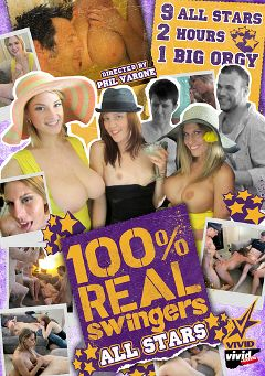 "Adult entertainment movie ""100 Percent Real Swingers: All Stars"" starring Phil Varone. Produced by Vivid Entertainment."