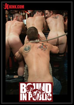 Bound In Public: Naked Ripped Stud Gets Humiliated And Used In A Crowded Public Bar, starring Bryan Cole, produced by KinkMen.