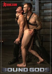 Bound Gods: Caged Sex Slave Endures A Beating, Hot Wax And Hard Stockade Fuck, starring Tyler Sweet (m) and Christian Wilde, produced by KinkMen.