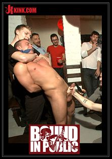 Bound In Public: Hot Art Thief With A Big Cock Beaten And Fucked Into Submission, starring Christian Wilde, Mitch Vaughn and Eli Hunter, produced by KinkMen.