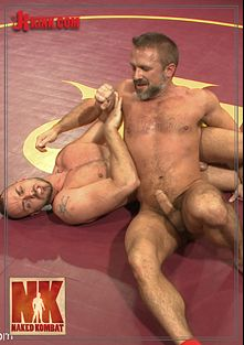 Naked Kombat: 1st Match Of Summer Smackdown Tournament - Dirk Caber Vs Jessie Colter, starring Jessie Colter and Dirk Caber, produced by KinkMen.