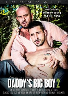 Daddy's Big Boy 2, starring Adam Russo, Tayveon Martin, Kory Houston, Sean Cross, Matt Stevens, Hunter Page, Brad Kalvo, Wolf Hudson, Nick Capra and Marcus Ryan, produced by Mile High Media and Iconmale.