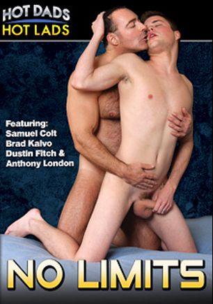 No Limits, starring Brad Kalvo, Samuel Colt, Zachary Hale, Jessippi Cappozzoli, Anthony London, Joey Rico, Dustin Fitch and Tyler Saint, produced by Hot Dads Hot Lads and Jake Cruise Media.