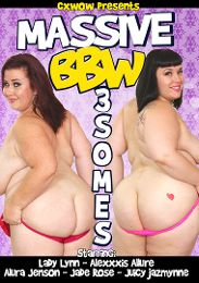 "Just Added presents the adult entertainment movie ""Massive BBW 3somes""."