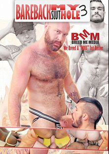Bareback My Slut Hole 3, starring Travis Saint, Damien Brooks, Aarin Asker and Russ Magnus, produced by Breed Me Media and Alpha One Media.