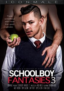 Schoolboy Fantasies 3, starring Brandon Wilde, Tony Salerno, Bryce Acton, Sam Truitt, Ethan Slade and Wolf Hudson, produced by Iconmale and Mile High Media.