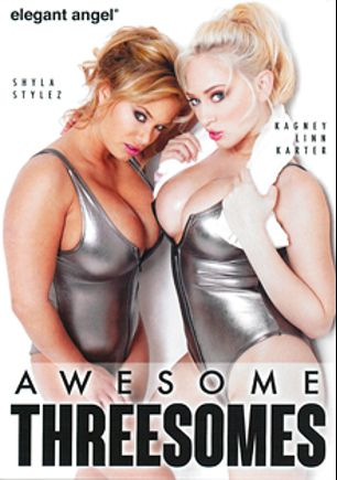 Awesome Threesomes, starring Gianna Michaels, Gemini Lovell, Jynx Maze, Gracie Glam, Kagney Linn Karter, Phoenix Marie, Charley Chase, Tori Black, Kelly Divine, Kristina Rose, Alexis Texas, Vanessa Monet, Rebeca Linares, Ava Rose and Shyla Stylez, produced by Elegant Angel Productions.