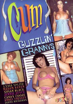"Adult entertainment movie ""Cum Guzzlin' Grannys"" starring Lydia Splitz, Sheryl & Raven. Produced by Tommy Kaye Productions."