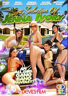 The Seduction Of Jenna Ivory, starring Jenna Ivory, Jordan Kennedy, Brittany Shae, Raven Rockette and Nikki Hearts, produced by Devils Film and Devil's Film.