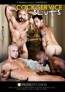 Cock Service Sluts, starring Matt Hart, Tritt Tyler, Jake Jennings, Brett Bradley, Sean Duran, Alessio Romero, Nick Cross, Diesel Washington and Jay Armstrong, produced by Pride Studios.