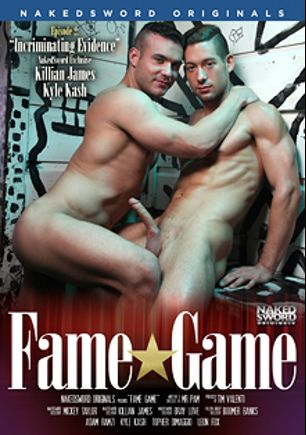 Fame Game Episode 2: Incriminating Evidence, starring Killian James, Mickey Taylor, Kyle Kash, Leon Fox, Boomer Banks, Adam Ramzi, Bray Love and Topher DiMaggio, produced by NakedSword Originals.