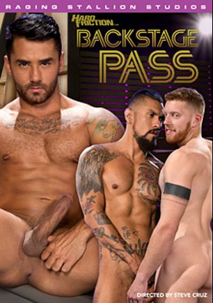 Backstage Pass, starring Bruno Bernal, Boomer Banks, Tex Davidson, Cass Bolton, Colt Rivers, Brian Bonds and Nick Capra, produced by Raging Stallion Studios, Falcon Studios Group and Hard Friction.