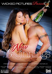New Beginnings, starring Jodi Taylor, Damon Dice, Cassidy Klein, Edyn Blair, Aaliyah Love, Ryan Driller, Marcus London and Brad Armstrong, produced by Wicked Pictures.