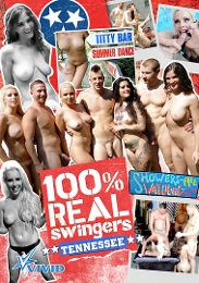 """Featured Category - Orgies presents the adult entertainment movie """"100 Percent Real Swingers: Tennessee""""."""