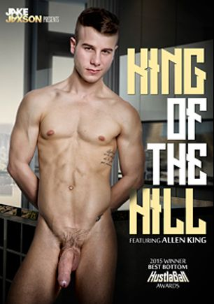 King Of The Hill, starring Allen King, Jacob Ladder, Ricky Roman, Jake Bass, Max Carter, Gabriel Lenfant, Levi Michaels, Levi Karter, Connor Maguire and Pierre Fitch, produced by Cockyboys.