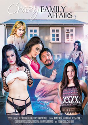 Crazy Family Affairs, starring Mandy Muse, Dava Foxx, Katrina Jade, Natalie Monroe, Alyssa Lynn, Chad White, Gabby Quinteros, D-Snoop, Tommy Gunn and Jessica Jaymes, produced by Spizoo.