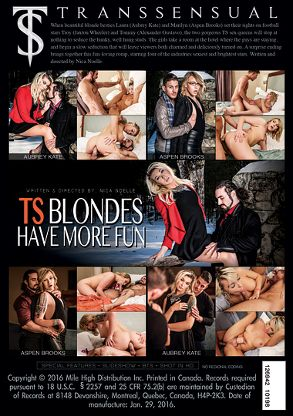 Straight Adult Movie TS Blondes Have More Fun - back box cover