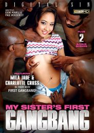 """Just Added presents the adult entertainment movie """"My Sister's First Gangbang""""."""
