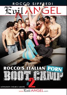 Rocco's Italian Porn Boot Camp 2, starring Rossella Visconti, Geri Del Bello, Eva Berger, Jenny Smart, Lola Taylor, Samantha Bentley, Valentina Nappi, Samia Duarte, Mike Angelo and Ian Scott, produced by Evil Angel and Rocco Siffredi Productions.