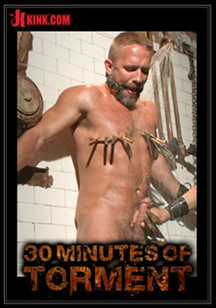 30 Minutes Of Torment: Muscled Hunk Dirk Caber Relentlessly Tormented And His Ass Violated, starring Dirk Caber, produced by KinkMen.