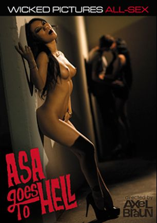 Asa Goes To Hell, starring Asa Akira, Rob Piper, Moe Johnson, Aiden Ashley, Eric John, Dane Cross and Will Powers, produced by Wicked Pictures.